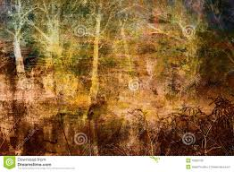 spooky texture spooky art grunge background with trees royalty free stock image