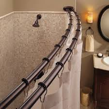 amazon com bennington adjustable double curved shower curtain rod amazon com bennington adjustable double curved shower curtain rod oil rubbed bronze home kitchen