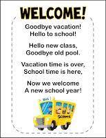 welcome poem day of school school poem