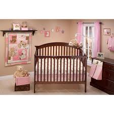 Girls Crib Bedding Little Bedding By Nojo Dream Land Teddy Crib Set Hayneedle