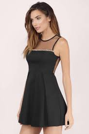 embellished dress black skater dress sleeveless dress rhinestone black dress