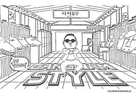 gangnam style coloring pages screenfonds