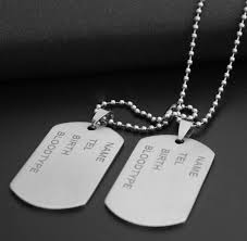 Personalized Dog Tag Necklace Aliexpress Com Buy Men Jewelry Custom Dog Tag Pendant Necklaces