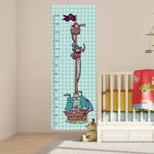 toise chambre bébé sticker toise chambre enfant décoration pirate