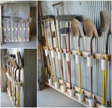 garage storage for garden tools from old pallet garage storage