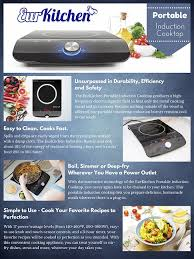How Induction Cooktop Works Amazon Com Eurkitchen Portable Induction Cooktop Countertop