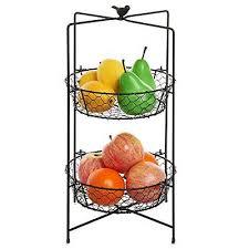 metal fruit basket rustic brown metal chicken wire 2 tier kitchen fruit basket stand