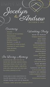 one page wedding program template wedding ceremony program wedding signage reception