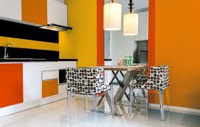 peinture orange cuisine peinture orange murale décohom