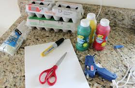 egg carton flower craft and painting activity the crazy craft lady