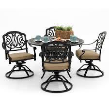 Aluminum Patio Dining Set - amazon com rosedown 4 person cast aluminum patio dining set with