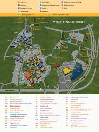 Usa Campus Map by Campus Map Music College Of Liberal Arts Wright State University