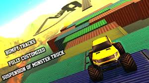 video of monster trucks monster truck impossible tracks drive challenge android apps on