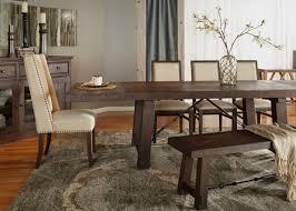 Java Dining Table Rectangle 116 5 Length Rustic Java Sandblasted Dining Table