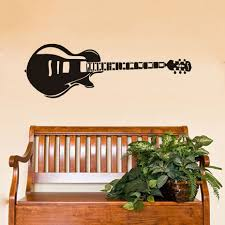 vintage electric guitar wall stickers for kids room vinyl baby boy vintage electric guitar wall stickers for kids room vinyl baby boy name nursery music instrument wall decal waterproof mural in wall stickers from home