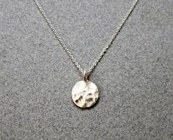 simple silver pendant necklace images Sterling silver circle necklace hammered silver disc necklace jpg