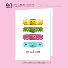 get well soon greeting card template