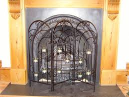 interior decorative fireplace screens designs large stained