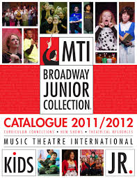 mti broadway junior collection catalogue 2011 2012 music
