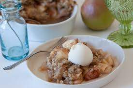 apple pear crisp with crystalized recipe