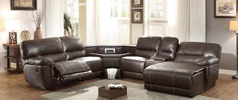 Power Sectional Sofa Homelegance Blythe Ii Power Sectional Sofa Brown 9606ah
