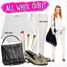 all white casual looking sophisticated in an all white my styling ideas