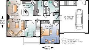 3 bedroom floor plans with garage house plan w2693 detail from drummondhouseplans