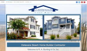 r a bunting builder delaware web design recent project