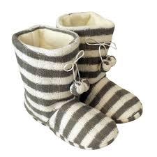 womens boot slippers uk womens pom pom ankle boot slipper white grey eskimo