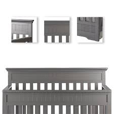 What Is A Convertible Crib On Me Chesapeake 5 In 1 Convertible Crib In Gray 761 Sg