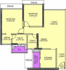 2 Wing Bedroom White City Phase 2 Wing B In Kandivali East Mumbai Flats For