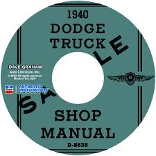 1940 dodge truck repair manual