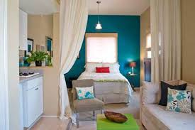 accent ls for bedroom studio apartment with blue accent wall decorating envy