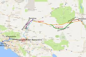 Arizona Strip Map by Route 66 In California Driving Tour And Road Trip