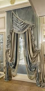 platinum embroidered ruched faux silk taffeta curtains window