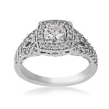 vintage halo engagement rings vintage engagement ring in 14 kt white gold yje0139sc