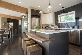 kitchen wooden countertops bar nice brown breakfast kitchen islan