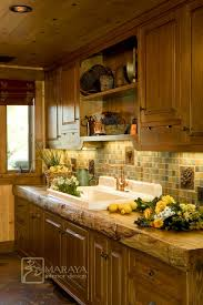 Rustic Farmhouse Kitchens - butlers pantry with rustic wood counter farmhouse kitchen