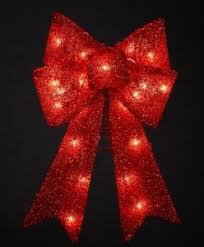 lighted bows happy holidays