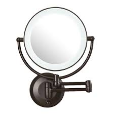 decor led magnification best lighted makeup mirror in oil rubbed