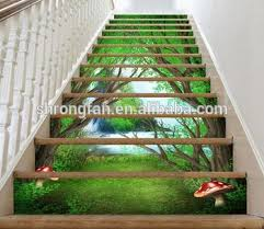 unique design stair murals home decorative stair riser decals
