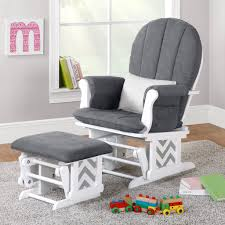 Rocking Chairs For Nurseries Inspiring Chair Nursing Glider White Gray Rocker With Ottoman