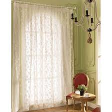 Sheer Patio Door Curtains White Patterned Elegant Custom Patio Door Sheer Curtains