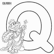 Abc Letter Q Queen Sesame Street Zoe Coloring Page Coloring Pages Q