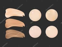 vector illustration of color shades palette for foundation make up