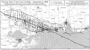 Weather Map Worksheets Hurricane Elena September 1985