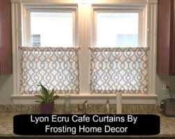 Modern Cafe Curtains Taupe Valance Etsy