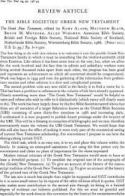 the bible societies u0027 greek new testament cambridge core