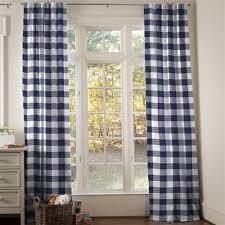 Blue Buffalo Check Curtains Buffalo Check Drapes And Curtains Coordinating Drape Panels
