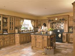 spanish eco friendly kitchen interior with freestanding island and
